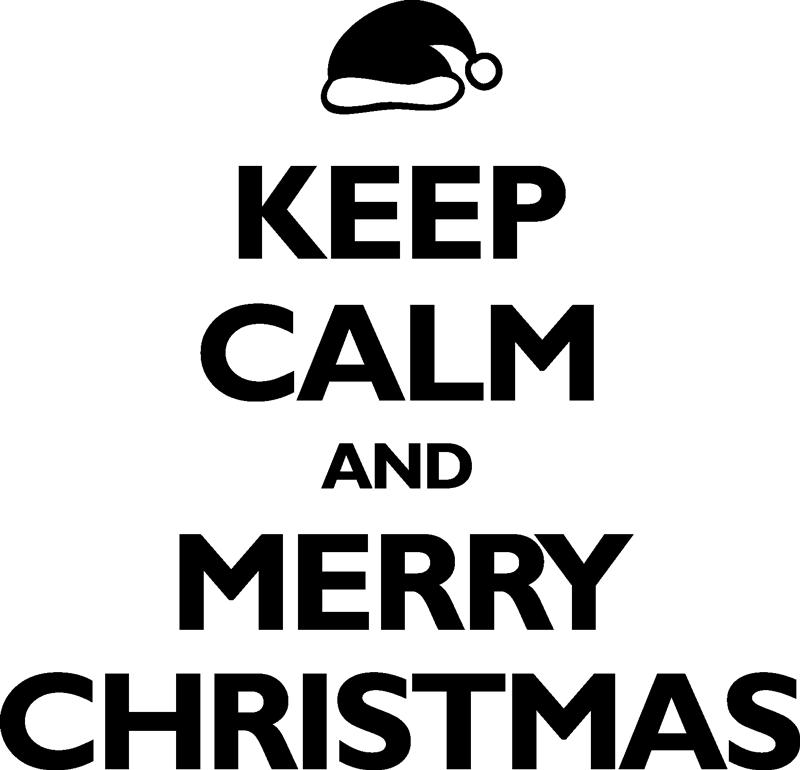 """TenStickers. Sticker keep calm christmas. Sticker texte """"Keep calm and happy Christmas"""", idéal pour décorer votre intérieur lors des fêtes de fin d'année."""