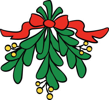 TenStickers. Christmas Mistletoe Decorative Sticker. Christmas vinyl decal of a mistletoe of this festive season of the year, ideal for the holidays.
