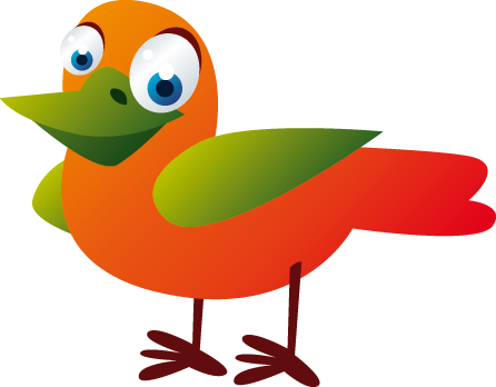 TenStickers. Kids Colourful Bird Wall Sticker. Kid Wall Stickers; Fun and playful illustration of a friendly colourful bird with big eyes. Choose your size. High quality.