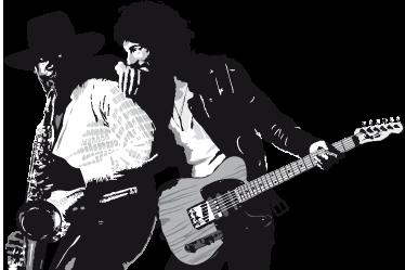 TenStickers. Wall sticker  Bruce Springsteen. Wall sticker decorativo che raffigura Bruce Springsteen, disegno ispirato alla cover del  suo album realizzato nel 1975.