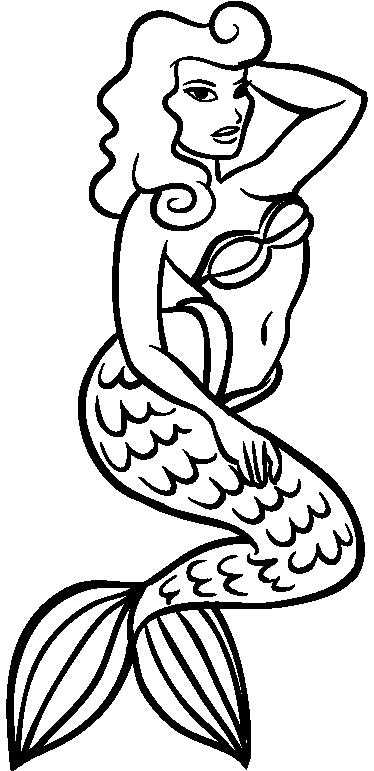 TENSTICKERS. 人魚のタトゥーアウトラインウォールステッカー. マーメイドウォールステッカーのコレクションのマーメイドタトゥーデカールの魅力的なアウトラインは、お好みの部屋を飾るためです。