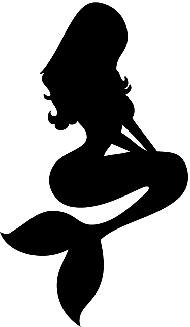 TenStickers. Mermaid Silhouette Wall Sticker. A silhouette mermaid decal from our set of mermaid wall stickers to give your home a new appearance along with a fantastic atmosphere.