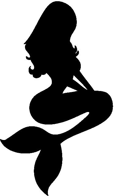 TenStickers. 美人鱼剪影墙贴纸. 来自我们的美人鱼墙贴的剪影美人鱼贴花,为您的家带来全新的外观和梦幻般的氛围。