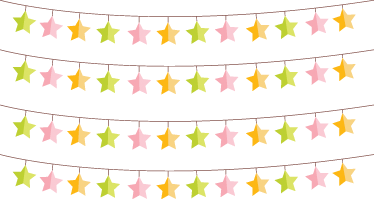 TenStickers. Stars Bunting Stickers. Vinilos de banderines para decoración de estancias infantiles con colgantes en forma de estrellas.
