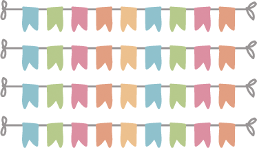 TenStickers. Bunting Banners Kids Stickers. A set of 4 bunting banners to decorate the bedroom of your children or their play area. Design from our collection of bunting wall stickers.