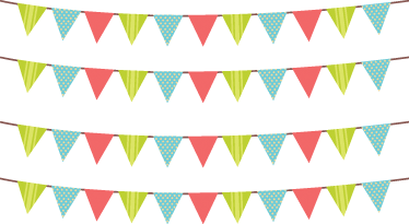 TenStickers. Triangle Bunting Banners Decal. A set of triangle bunting banners from our collection of bunting wall stickers to decorate a girl's bedroom or play area.