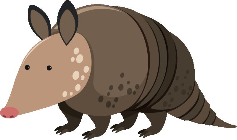 TenVinilo. Vinilo armadillo. Adhesivo decorativo animal con el dibujo de un armadillo amarillo de ojos azules. Vinilo infantil en el que puedes elegir varias medidas.