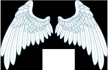 TenStickers. Weiße Flügel Aufkleber. Dekorativer Aufkleber von weißen Engelflügel - Dekorationsidee für das Wohnzimmer. Schaffen Sie eine besondere und individuelle Atmosphäre.