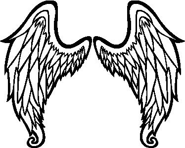 outline of angel wings wall art sticker tenstickers