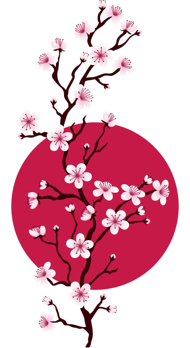 TenStickers. Japanese Cherry Branch Sticker. A beautiful pink cherry branch decal from our collection of Japanese wall stickers to decorate those empty spaces at home.