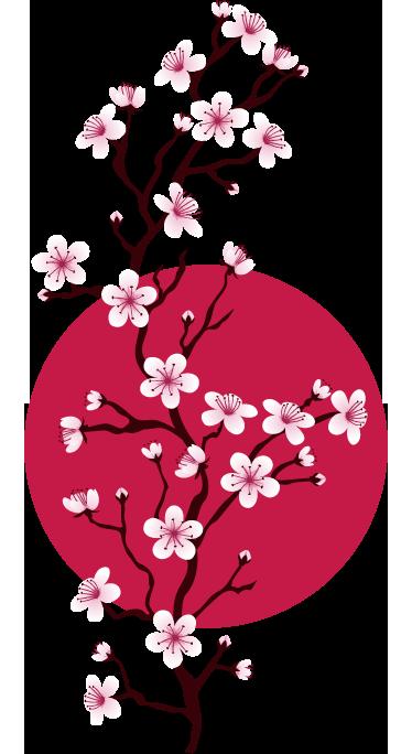 TenVinilo. Vinilo decoración japonesa rama cerezo. Vinilos decorativos japoneses de estilo floral para darle color y exotismo a las paredes de casa.