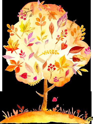 TenStickers. Herbst Baum Sticker. Aufkleber - Dekorationsidee für Ihr Wohnzimmer, Schlafzimmer und mehr. Gestalten Sie Ihr Zuhause passend zu der Jahreszeit Herbst.