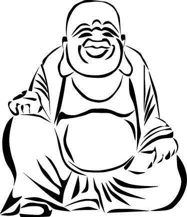 TenStickers. Buddha Drawing Wall Sticker. Outline design of a Buddha from our collection of Buddha wall stickers to decorate your favourite room and enjoy a calm atmosphere.