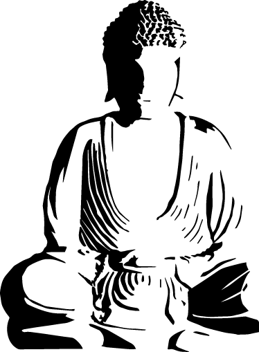 TenStickers. Buddha Decorative Wall Decal. A monochrome design from our collection of Buddha wall stickers to personalise your own space and give it a touch of originality.