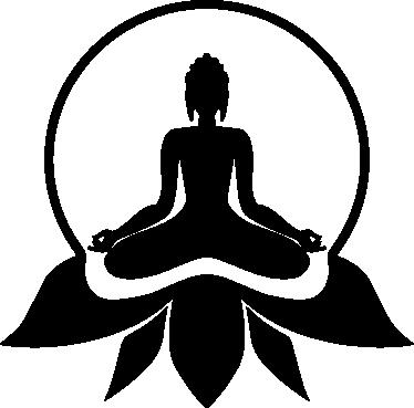 TenVinilo. Vinilo decorativo logotipo budista. Vinilos de Buda con una representación iconográfica de esta corriente religiosa.