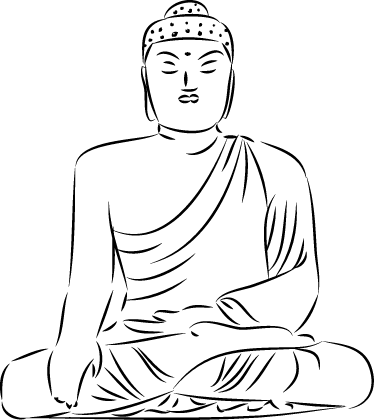 sticker bouddha dessin