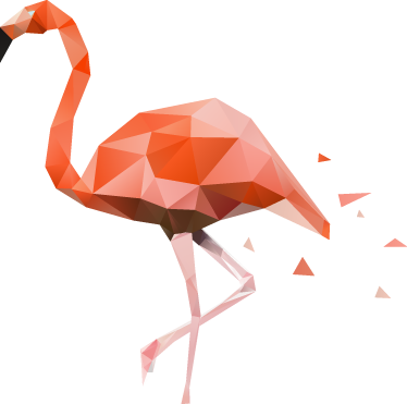 TenStickers. Geometric Pink Flamingo Wall Sticker. A magnificent design illustrating a geometric pink flamingo. If you love these unique birds then this is the ideal flamingo wall sticker for you! You can now decorate your walls with this stylish bird wall sticker that will give your room a fresh new aesthetic.