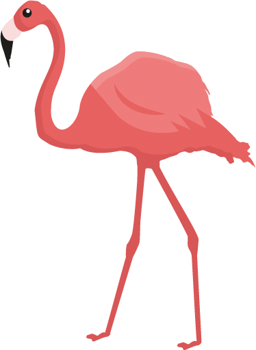 TenStickers. Pink Flamingo Wall Art Sticker. A fabulous pink flamingo from our collection of flaming wall art stickers to give your walls a unique touch of originality.
