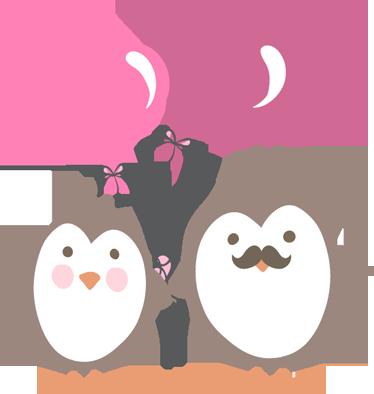 Vinilo infantil pingüinos amor - TenVinilo