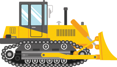 TenStickers. Kids Digger Wall Sticker. A yellow digger wall sticker to decorate your children's bedroom or play area. A brilliant design from our collection of vehicle wall stickers. If your children loving playing with digger toys or toy cars then this digger decal is ideal for decorating their bedroom.
