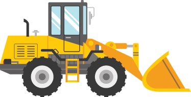 TenStickers. Kids Yellow Digger Wall Sticker. A superb yellow design from our collection of digger wall stickers to decorate your children's room.