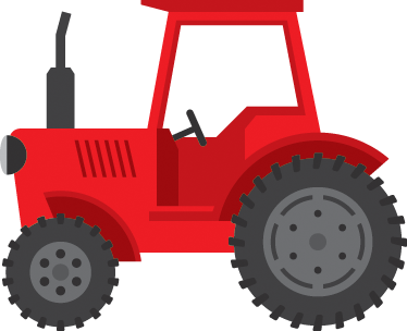 TenStickers. Red Tractor Wall Sticker. A lovely red tractor wall sticker from our collection of farm wall stickers to decorate any space at home! Perfect for your children's room. Bring some colour to their nursery or play room with this vibrant red design available in a variety of different sizes.