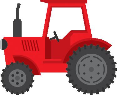 TenStickers. Naklejka czerwony traktor. Znakomita dekoracja do pokoju chłopięcego przedstawiająca czerwony traktor, stwórz w pokoju dziecięcym ich własną farmę!