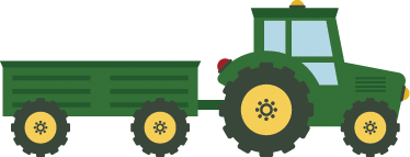 TenStickers. Kids Green Tractor Wall Sticker. An exciting green kids wall sticker from our collection of tractor wall stickers ideal for giving your children's room a new appearance and atmosphere.