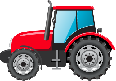 TenStickers. Kids Red Tractor Wall Sticker. An original design from our collection of tractor wall stickers to decorate any room at home! Ideal for the little ones. Easy to apply and leaves no residue upon removal.