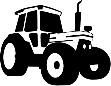TenStickers. Monochrome Tractor Wall Sticker. A magnificent silhouette decal illustrating a tractor to decorate your home! Brilliant design from our collection of tractor wall stickers.