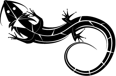 TenStickers. Decorative Gecko Wall Art Sticker. A fantastic lizard from our collection of gecko wall art stickers inspired on tribal tattoos! An ideal decal to decorate your home!
