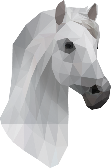 TenStickers. Geometric Horse Wall Art Sticker. A brilliant geometric horse wall art decal for those that love horses! A great design that will surprise your family and friends.