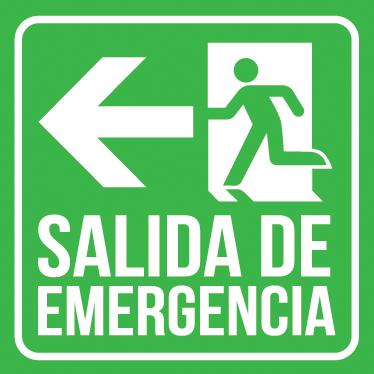 TenVinilo. Adhesivo señalética salida emergencia. Vinilo de señalización con el que indicarás claramente donde está la puerta de emergencia.