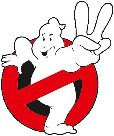 TenStickers. Ghostbusters Sticker. Dekorativer Film Sticker - Logo des 2. Teils der Ghostbuster Filme aus den 80er Jahren.  Dekorationsidee.