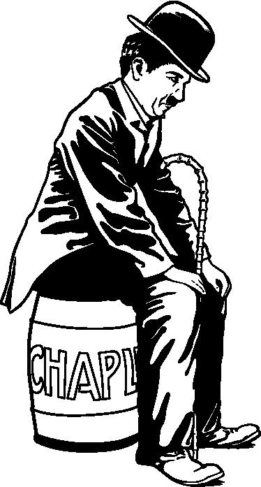 TenVinilo. Vinilo decorativo retrato de Chaplin. Vinilos de Chaplin con los que podrás decorar cualquier estancia de tu hogar.