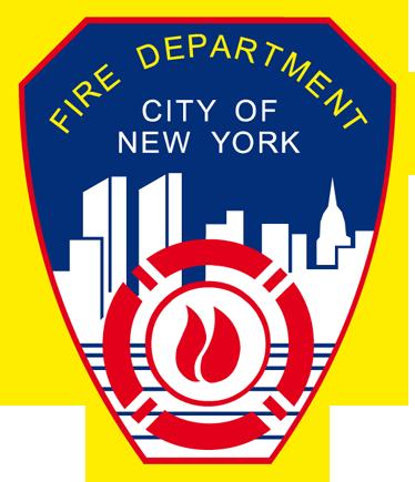 TenVinilo. Adhesivo logotipo FDNY. Adhesivo con el emblema del cuerpo de bomberos de la ciudad de Nueva York.