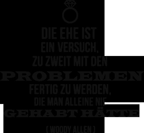 TenStickers. Woody Allen Zitat Sticker. Dekorativer Text Sticker mit einem humorvollen Woody Allen Zitat. Dekorieren Sie Ihr Wohnzimmer.