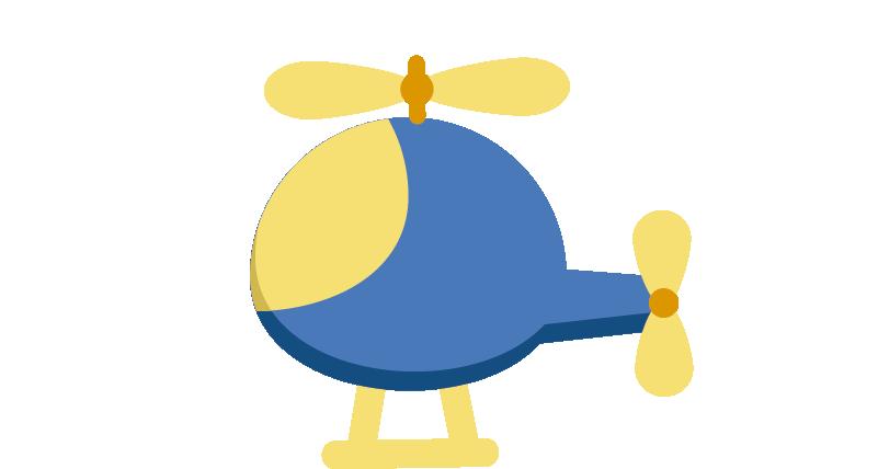 TenVinilo. Vinilo infantil helicóptero. Adhesivo decorativo de un simpático helicóptero ideal para cualquier habitación infantil.