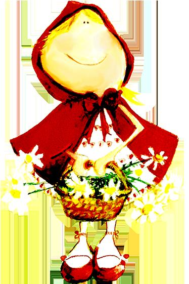 TenStickers. Roodkapje kinderen exclusieve sticker. Alweer een exclusieve design van de ontwerper Lol Mahone maar dit keer met Roodkapje van het bekende sprookje!