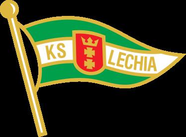 TenStickers. Naklejka Lechia Gdańsk. Naklejka dekoracyjna przedstawiająca logo drużyny piłkarskiej z Gdańska.