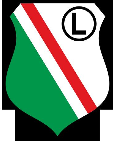 TenStickers. Naklejka Legia Warszawa. Naklejka na ścianę z herbem Legii Warszawa, który ma barwy czerwono-biało-zielono-czarne. Dla każdego fana tego klubu piłkarskiego.
