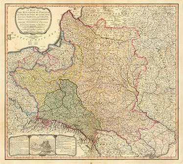 TenStickers. Vintage Karte Polen 1799. Dekoratives Wandtattoo einer alten polnischen Karte aus dem Jahr 1799. Dekorationsidee für Ihr Zuhause.