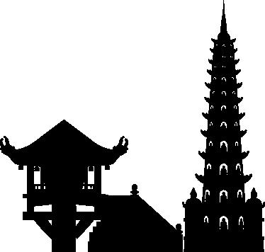 TenVinilo. Vinilo decorativo Hanoi. Vinilos asiáticos con algunos monumento característicos de la capital de Vietnam.