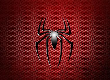 TenVinilo. Vinilo para portátil spiderman. Adhesivo para decoración de ordenadores portátiles con una representación del famoso logotipo del hombre araña.