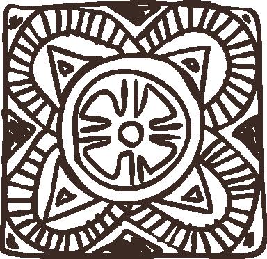 TenVinilo. Vinilo decorativo cuadrado floral étnico. Vinilo decorativo para decoración de habitaciones de pareja. Adhesivo con el dibujo de un mosaico disponible en cincuenta colores diferentes.