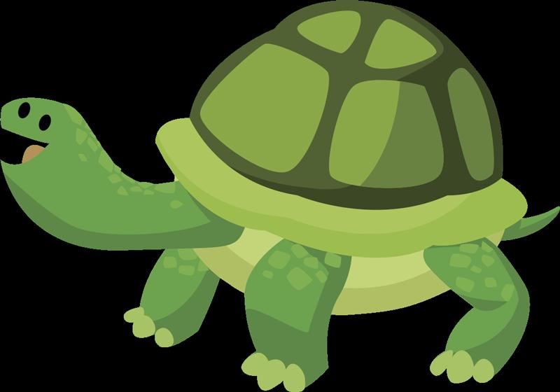 TenStickers. Sticker tortue. Sticker original pour décorer les murs de la chambre des enfants grâce à cette petite tortue amusante et souriante.