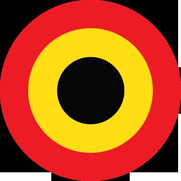 TenStickers. Sticker drapeau belgique cible. Sticker décoratif représentant le drapeau de la Belgique au coeur d'une cible.