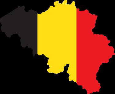 TENSTICKERS. ベルギーの旗フラグデカール. マップスタイルで設計されたベルギーの旗の壁ステッカー。素敵な家とオフィスの国のテーマの装飾。必要なサイズでご利用いただけます。