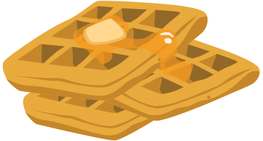 TenStickers. Waffles Dessert Sticker. A mouthwatering sticker of three waffles with some melted butter on top. From our collection of desserts and sweets decals.