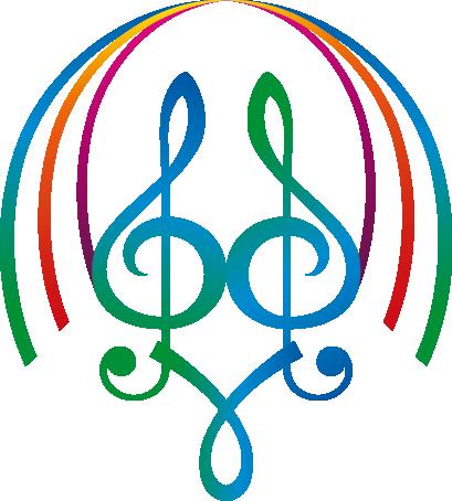 TenStickers. Sticker muzieknoten symmetrie. Deze sticker van muzieknoten in symmetrie met een bogende vorm eromheen zijn ideaal voor de muzikale individu.